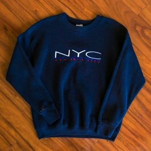 Vintage Embroidered NYC New York City Sweatshirt